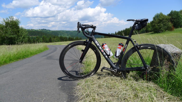 Cycling in Ore Mountains, Medenec